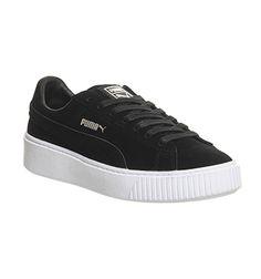 d0f3d381b1f1 Puma Suede Platform Black White - Hers trainers Office Shoes