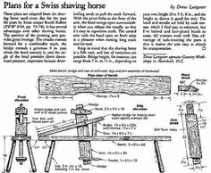 1000 Images About Carving Shaving Horse Tripod Style