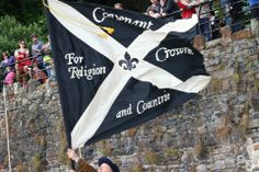 The flag flying at Dumbarton