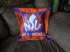 Northwestern Demons Tshirt Pillow by JerseyMagic on Etsy, $25.00 www.facebook.com/jerseymagicquilts