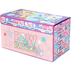 Nickelodeon Paw Patrol Girls Oversized Soft Collapsible Storage Toy Trunk, Pink