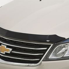 Traverse Molded Hood Protector, Smoke Black:Deflect road debris and insects while helping to shield the hood of your Traverse from stone damage with this custom-designed Molded Hood Protector. Provides a precise fit by following the contour of your hood. Chevrolet Traverse, Mid Size Suv, Black Hood, Driving Force, Car Wash, Contour, Insects, Custom Design, Smoke