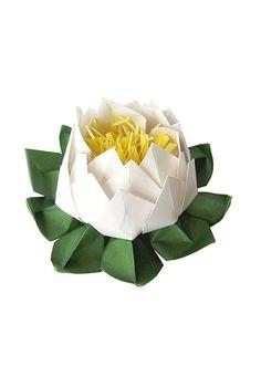 Yoga Gift White Lotus Flower Wedding Decoration 1 by Graceincrease