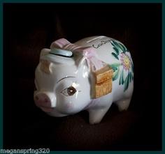 Vintage Pioneer Savings & Loan Piggy Bank by Nasco