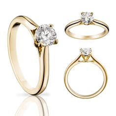 381bc94aa1a93 Cartier Solitaire 1895 diamond ring in yellow gold Beautiful Wedding Rings,  Beautiful Engagement Rings,