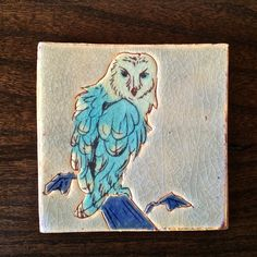 """Coasters are about 4""""x4"""" and 1/3"""" thick. They are fully glazed so that spills can be wiped off easily."""
