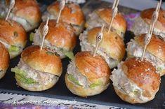 Salmon Recipes, Meat Recipes, Snack Recipes, Snacks, Meat Meals, Vegetarian Recipes, Tapas, Pan Bagnat, Mini Hamburgers