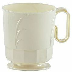 Elegance 8 Oz Ivory Plastic Coffee Mugs - 40 Ct. by hanna k signature. $17.00. durable yet disposable. 8 oz coffe mugs in ivory, 40 per pack. perfect for any occasion
