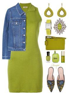 Kiwi 🥝 Color by gemique on Polyvore featuring polyvore mode style Romeo Gigli MANGO Alberta Ferretti Coach Latelita Hermès Loewe Tata Harper Deborah Lippmann fashion clothing
