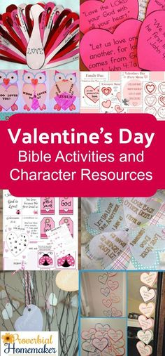 Teach your children what the Bible says about love with these Valentine's Day Bible activities and character resources! via @TaunaM