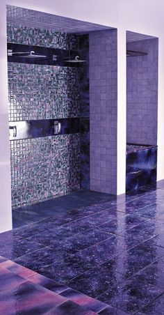 Purple Tiled Bathroom Design Trends By Franco Pecchioli Ceramica