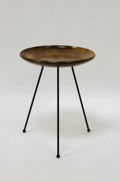 Sol Bloom; Mahogany and Iron Catch-All Table, 1950s.