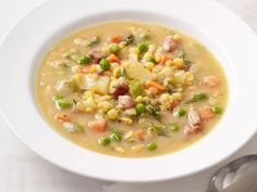 Get Food Network Kitchen's Lentil Soup With Peas and Ham Recipe from Food Network