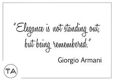 Trend Anonymous - The place to find the latest street style inspiration and outfit ideas straight from the runway! Fashion Quotes, Giorgio Armani, Style Inspiration