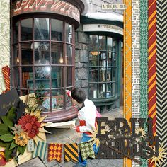 Page Wizarding World of Harry Potter (Orlando) Non-Disney Theme Parks in the area Disney Scrapbook Pages, Scrapbook Paper Crafts, Scrapbook Cards, Picture Scrapbook, Harry Potter Houses, Harry Potter Theme, Harry Potter Hogwarts, Scrapbook Designs, Scrapbook Sketches