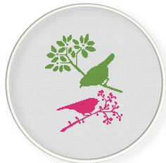 Buy 4 get 1 free ,Buy 6 get 2 free,Cross stitch pattern, Cross-Stitch PDF, pattern design ,birds pattern,zxxc0278. $4.50, via Etsy.