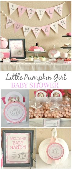 Little Girl Pumpkin Baby Shower - Party Ideas