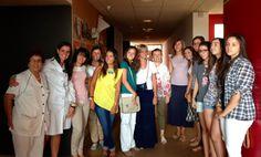Grupo de voluntarias en ASPAYM verano de 2013