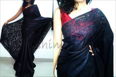 Cut work Tussar Silk Saree - Black Code:1201150 AVAILABLE For this saree please contact us by messaging our Inbox in FB / mailing us at ashima.retail@gma... or calling us at +91 484 4044800