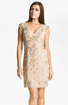 Mother of the Bride   Sue Wong Embellished Illusion Back Sheath Dress available at #Nordstrom