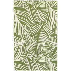 Found it at AllModern - Atrium Tropical Leaf Green & Ivory Indoor/Outdoor Area Rug