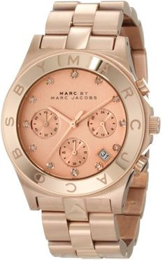 Marc Jacobs Blade Rose Gold Pink Dial Women's Watch MBM3102 Marc by Marc Jacobs,http://www.amazon.com/dp/B00597D3DK/ref=cm_sw_r_pi_dp_B4X-rb03ANBECH5A, I love, love, love this watch.