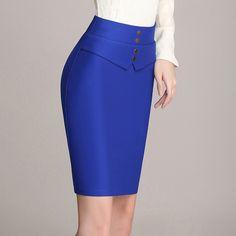 Moda Femenina Fashion Chic Pencil Skirts Ideas For 2019 Midi Skirt Outfit, Pencil Skirt Outfits, Casual Skirt Outfits, Pencil Skirts, One Step, Ladies Dress Design, Work Fashion, Elegant Dresses, African Fashion