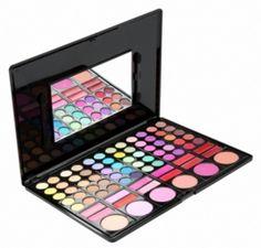 Palette maquillage 78 couleurs miroir + 2 pinceaux - bestyle29.com