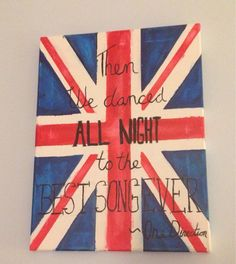 One Direction Lyrics Art: Best Song Ever!! Where can you buy this painting??