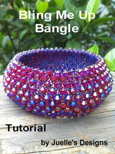 Tutorial for Bling Me Up Bangle by JuellesDesigns on Etsy, $15.00