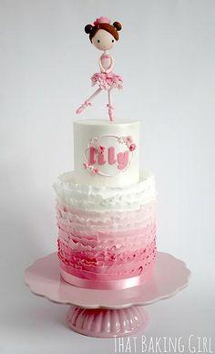 thatbakinggirl | pink Ballerina cake