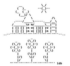 Sunny Village in ASCII Art | Creative Fat Grrl | ASCII Art | Scoop.it