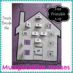 Multiplication Houses- Free Printable