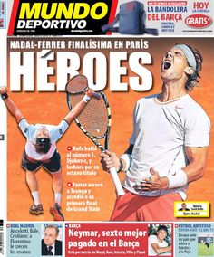 Los Titulares y Portadas de Noticias Destacadas Españolas del 8 de Junio de 2013 del Diario Mundo Deportivo ¿Que le parecio esta Portada de este Diario Español?