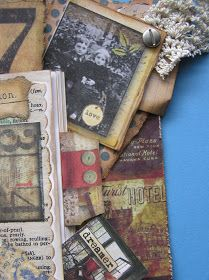 Altered Book Idea - this is a creative post that shows how a travel journal was made.