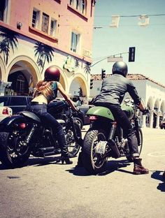@Harley-Davidson #nightster and @Triumph Motorcycles - a couple that rides together stays together