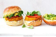 Burgery wegańskie z dyni, kaszy jaglanej i soczewicy