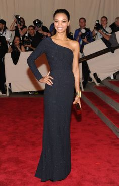 Zoe Saldana in Michael Kors, 2010 The actress was so sleek and elegant in this one-shouldered gown by Michael Kors.