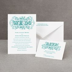 Vintage Vows - Invitation- totally affordable