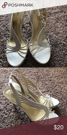 Unforgetable moment heels In excellent condition worn once size 9.5 Shoes Heels