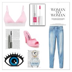 Pink summer by labloggerglossy on Polyvore featuring moda, Gap, Jeremy Scott, Lancôme, MAC Cosmetics, Marc Jacobs and Balmain