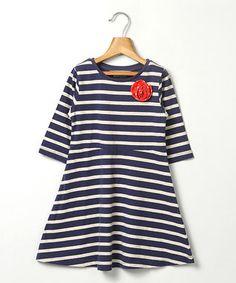 Navy Stripe Swing Dress - Infant, Kids & Tween $12