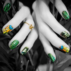 Leo #nailwraps and ring! From The Zodiac Collection.