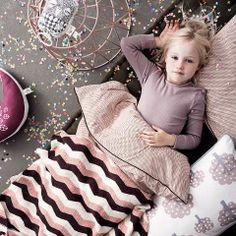 Blush pink cute Danish little girls bedroom