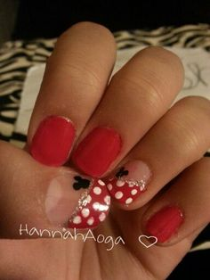 Day one: Red Disney Nails