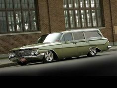 1961 Chevy Nomad wagon...My husband has one of these he's getting ready for a car show in Biloxi, MS in September.