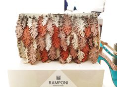 #Ramponi stand #bags #lasercut leaves