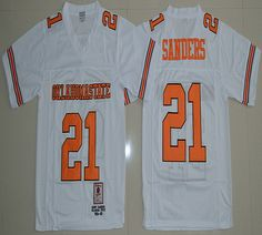 Oklahoma State Cowboys Barry Sanders 21 College Football Jersey - White