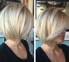 Short Blonde Straight Bob for Fine Hair