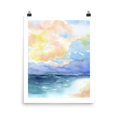 Abstract Beach Watercolor